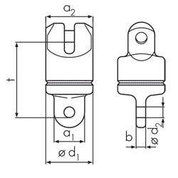 Special swivel – ball bearing graph