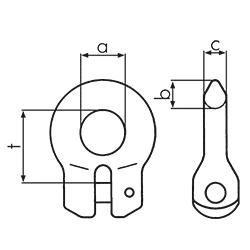 Clevis connector graph