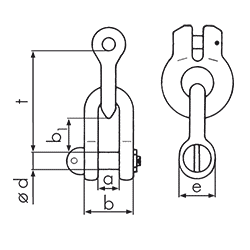 Clevis connectors with shackle graph